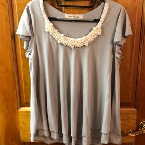 Steve Madden Blouse with Pearls
